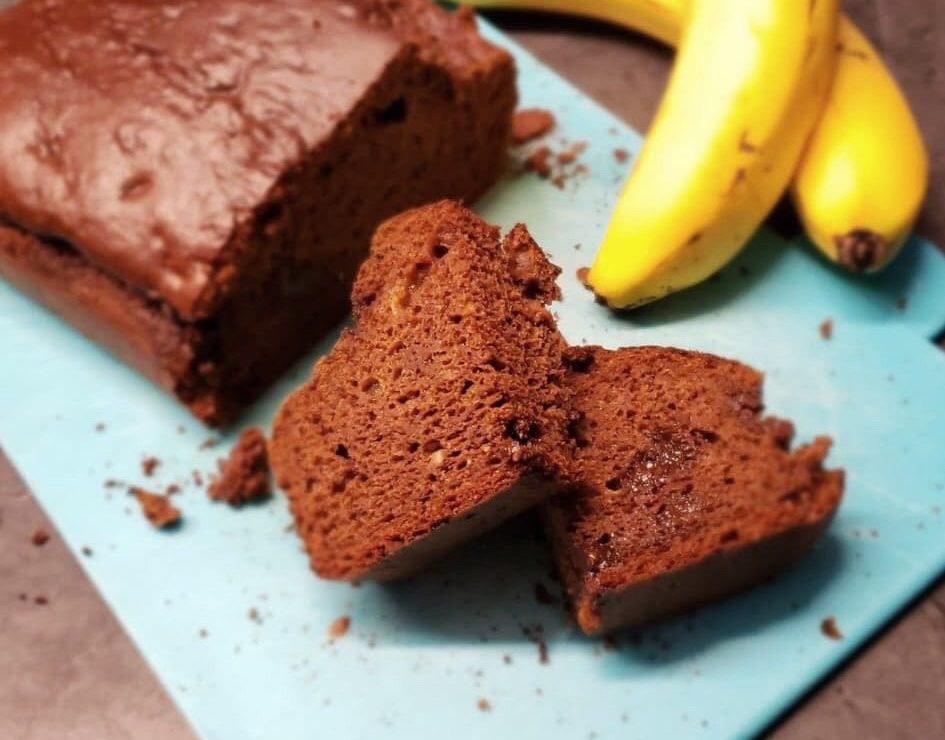 Pain aux bananes et double chocolat