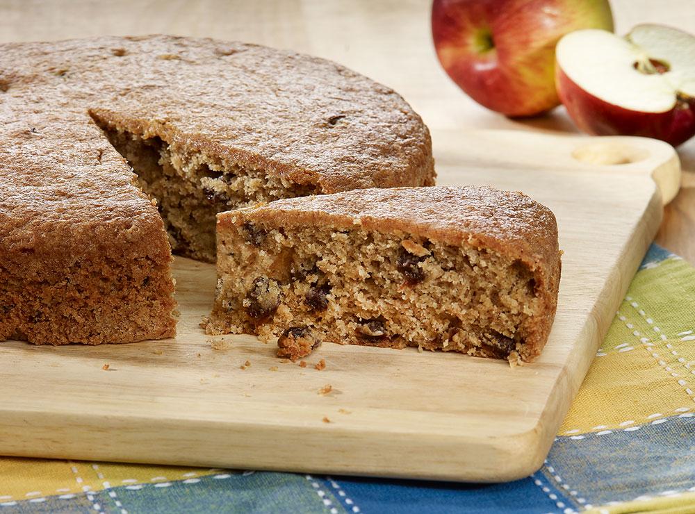 Gâteau aux pommes et raisins