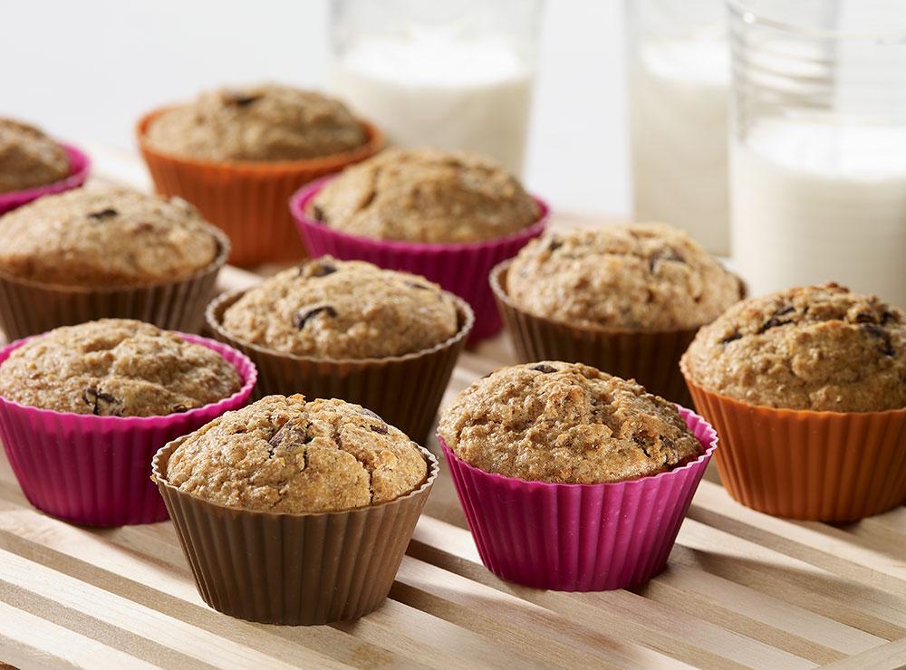 Muffins au son et chocolat