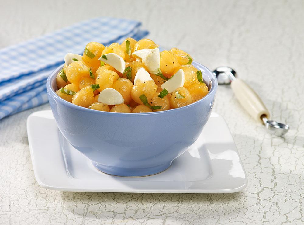 Cantaloupe & bocconcini salad