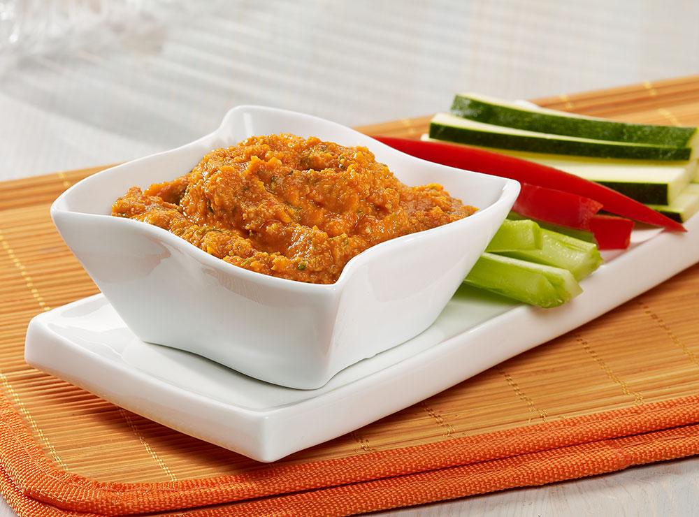 Chickpeas & grilled peppers dip