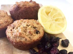 Muffins aux canneberges et citron